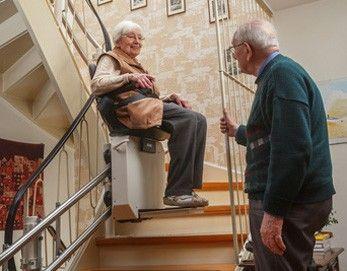 Sturzprophylaxe durch Treppenlift