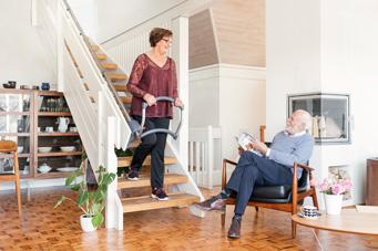 Treppenhilfe in Wohnraum