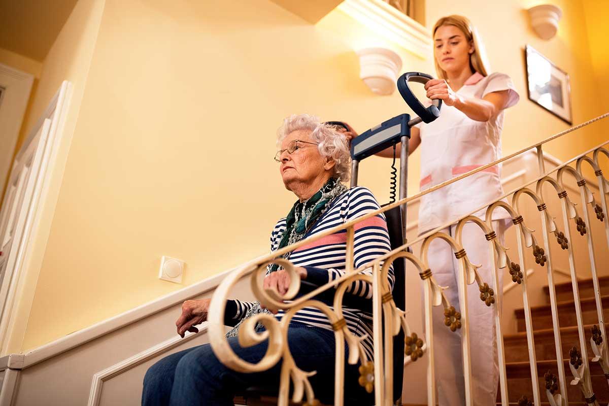Treppensteiger als Mobilitätshilfe