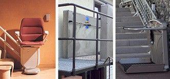 Unterschiedliche Lifttypen für den Einbau bei verschiedenen Voraussetzungen