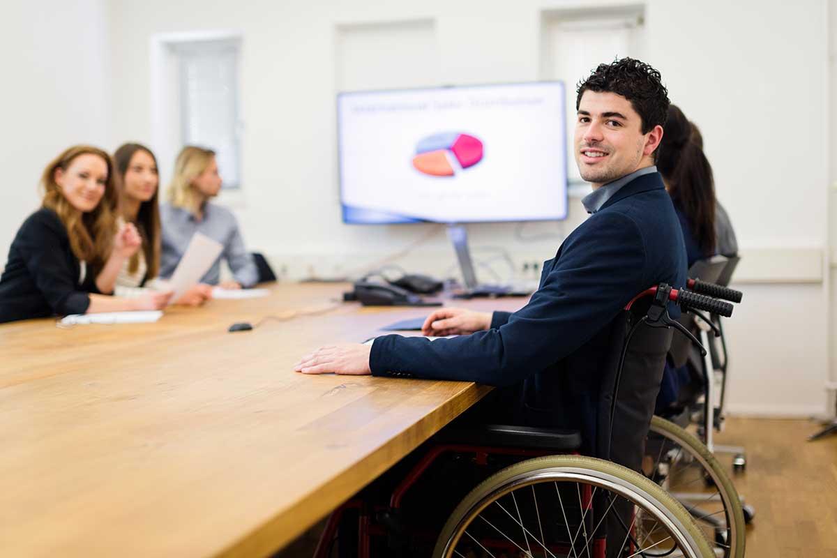 Behindertengerechte Arbeitswelt