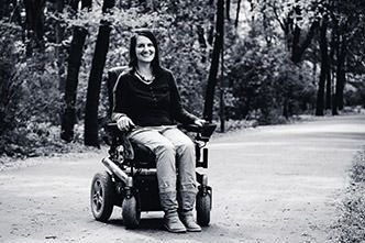 Julia Weiland avec son blog Wheelymum